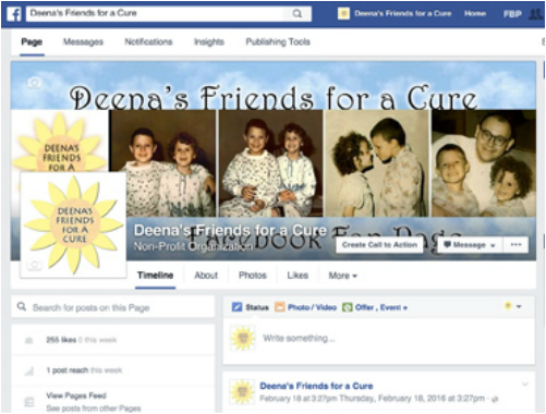 Deena's Friends for a Cure Facebook Fan Page