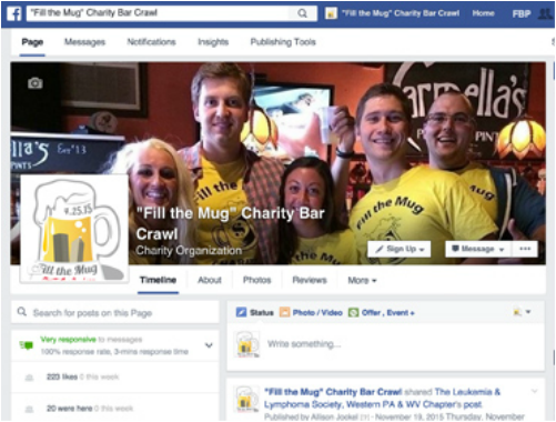 Charity Bar Crawl Facebook Fan Page